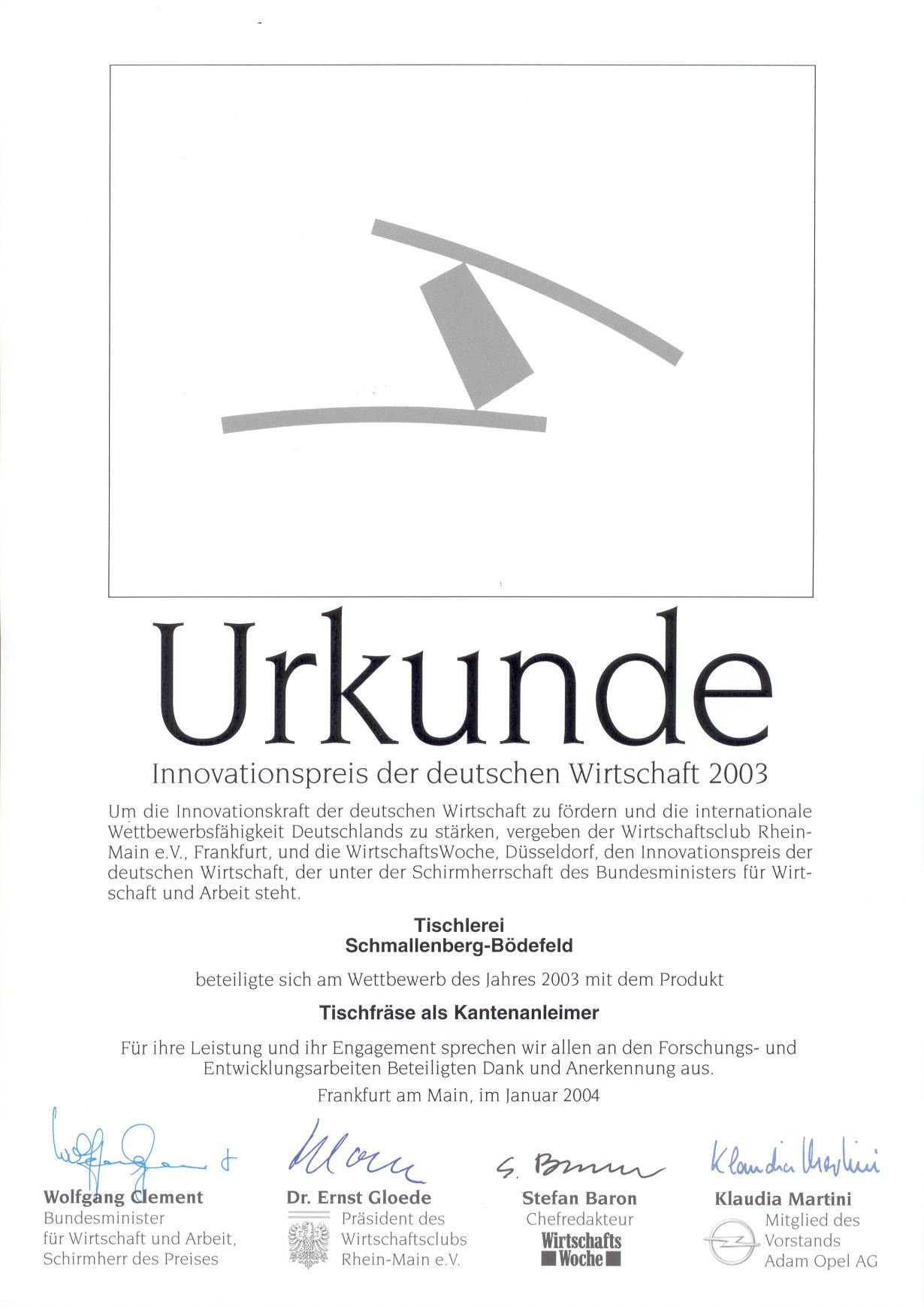 20040101_Innovationspreis_der_deutschen_Wirtschaft_2003_Urkunde