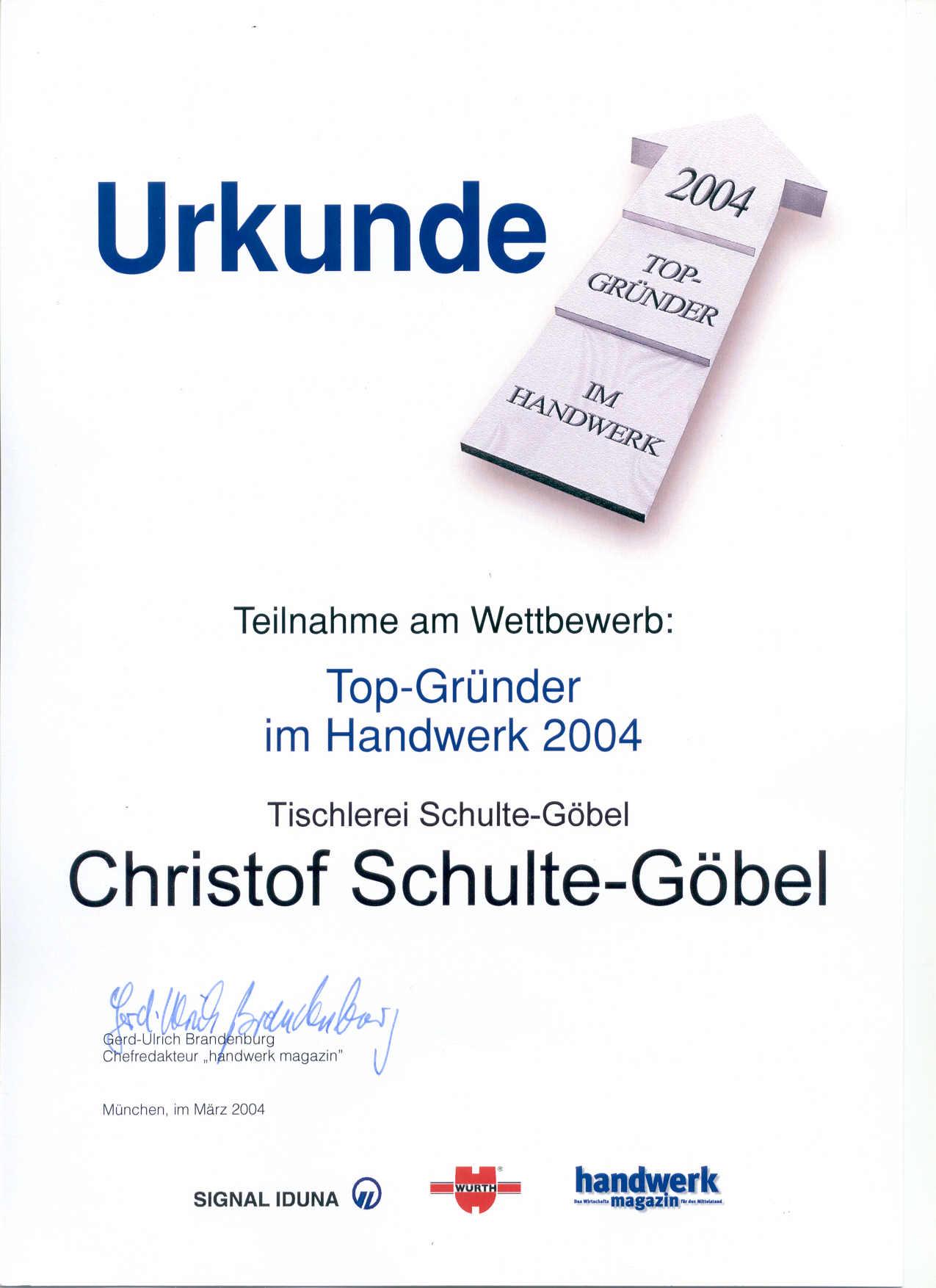 20040301_Top_Gründer_im_Handwerk_Urkunde