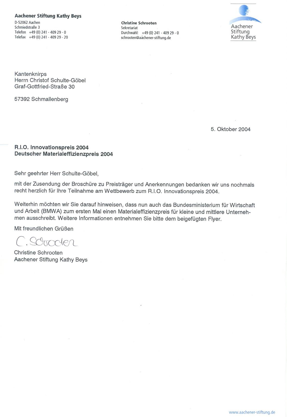 20041005_Teilnahme_R.I.O Innovavitionspreis